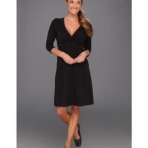 Patagonia Margot 3/4 Sleeve Black Dress
